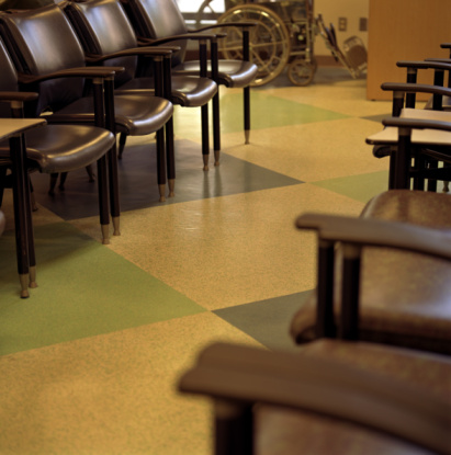 Hospital Waiting Room Floor and Chairs