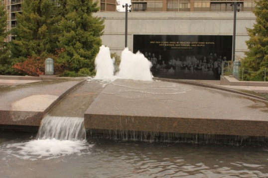 A closeup of the fountain located on the Conference Center roof. I'll get to take Anna Melissa there someday...