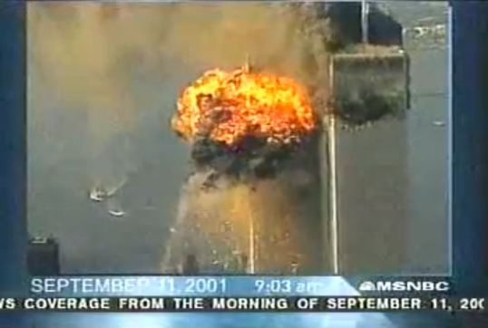 The live shot from The Today Show on NBC the morning of September 11, 2001.