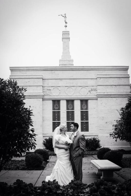 My wife and I on our wedding day at The Birmingham Alabama Temple.