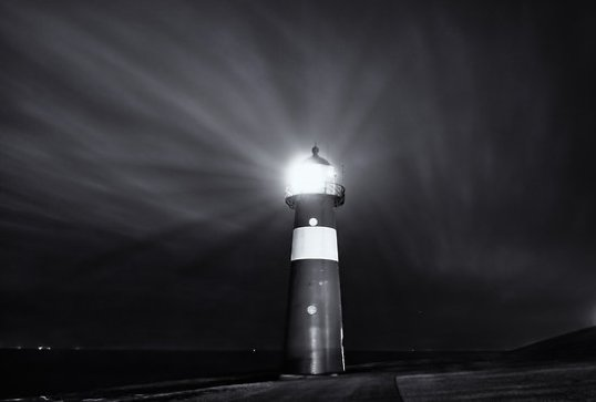 light house at night